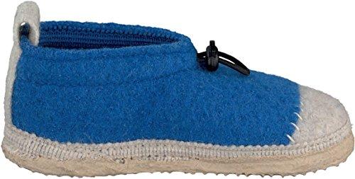 Giesswein Tessin, Chaussons Doublé Chaud Mixte Enfant Bleu (553)