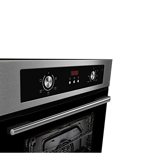 41cCM1Q8IBL. SS500  - Cookology Built-in Electric Single Fan Oven in Stainless Steel with Programmable Timer & Digital Clock | COF605SS