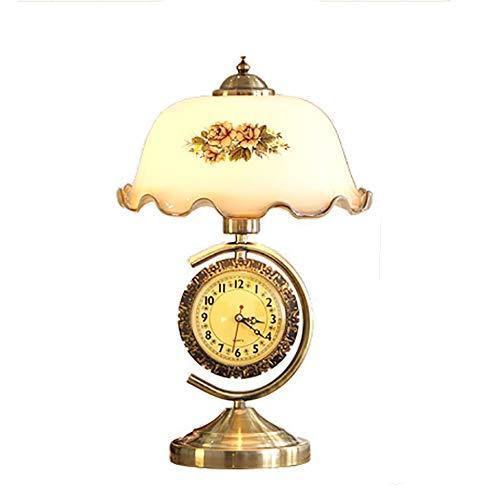 CANCUI Dekorative Tisch- & nachttischlampen, E27 Atmosphärischen Gold Mode Glas klar Uhr Leselampe W10