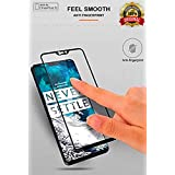 Aeidess Tempered Glass for OnePlus 6 (Black)-Edge to Edge Full Screen Coverage