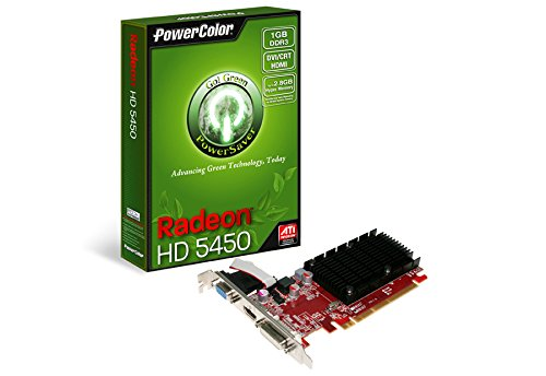 TUL AX5450 1GBK3-SHV3 Radeon HD 5450 Grafikkarte (ATI, PCI-e, 1GB, GDDR3 Speicher, DVI, HDMI, 1 GPU) - Powercolor Radeon Hd Pcs