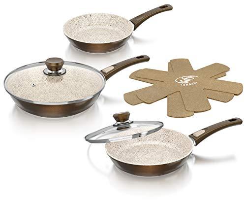 Genius Sartén, Aluminio, Braun-Metallic, 28 cm, 2