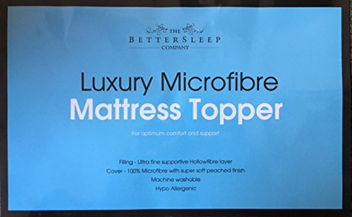 The Bettersleep Company Brand – HOTEL QUALITY MICROFIBRE MATTRESS TOPPERS DOUBLE BED 137x193cms