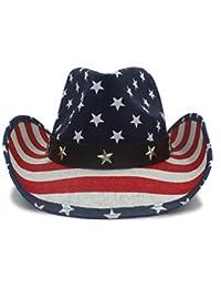 Qianliuk Sombrero de Vaquero de Verano Hombres de Paja Sombreros de Sol  Occidental a57a6e148b1
