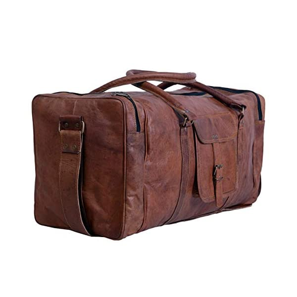 24″ Men's Genuine Vintage Leather Large Duffle Travel Gym Weekend Overnight Bag 41cCOCrz1AL