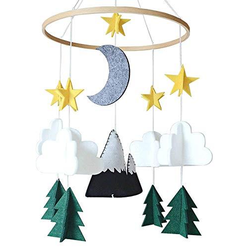Juman634 Cute Bett hängen Cartoon Filz Hängende Ornamente Anhänger Krippe Dekoration Baby Mobile und Kinderwagen Aktivität Spielzeug Ab Geburt geeignet (Krippe Neben Dem Bett)
