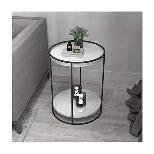 WAZY Ins Schmiedeeisen-Blumenstandplatz Mehrere einfache kleine Couchtisch Nachttisch Sofa Side Cabinet Light Luxury Corner Mehrere Marmor-Beistelltisch Kleiner runder Tisch Flower Frame 40X40X55cm - Frame-couchtisch