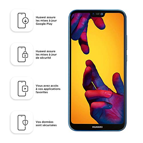 Huawei 51092FTP P20 lite Smartphone (64GB interner Speicher, 4GB RAM, 16 MP Plus 2MP Kamera, Android 8.0 EMUI 8.0, Dual SIM) klein blue (West European Version) -