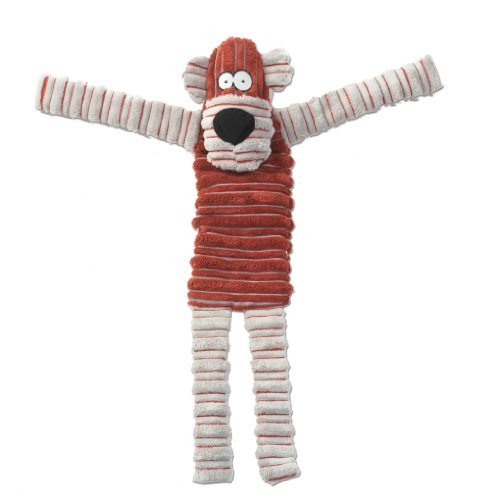 PetRageous Squeakrageous Meg The Monkey Pet Squeak Toy, 17.5-Inch, Red by PetRageous (Designs Red Monkey)