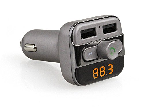 Verizon Bluetooth Video (efanr Multifunktional Auto Bluetooth Kfz-Freisprechanlage Wireless Player Bluetooth FM Transmitter Musik Adapter mit Dual-USB-Ladegerät für iPhone, Android Smartphone Tablets und MP3-Player)