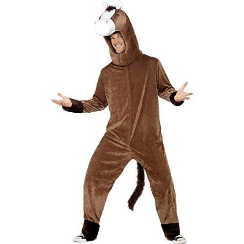 NET TOYS Pferd Kostüm Pferdekostüm Pferde Tierkostüm Ganzkörper Pferdkostüm Esel Plüschkostüm Lustiges Faschingskostüm Plüsch Karnevalskostüme - Lustige Esel Kostüm