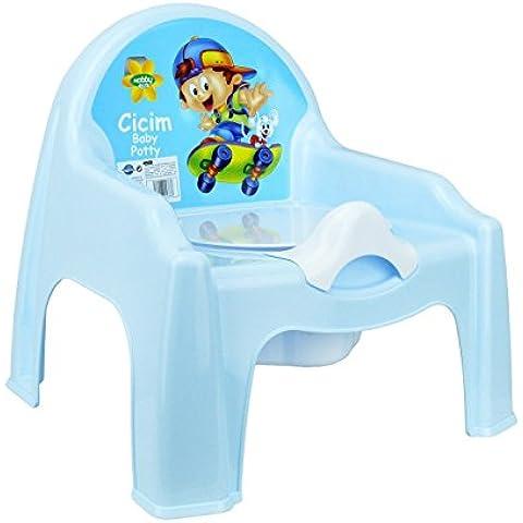 MWS2661 - 091103 Orinal de plástico para niños en cuatro divertidos colores (Azul)