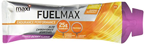 MaxiNutrition Fuel Max Plus Sports Gel, 70 g - Mixed Berry, Pack of 24
