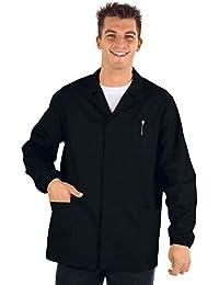 Isacco médico-Chaqueta de deporte para hombre manga larga, color negro