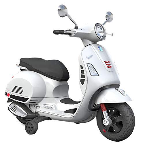 PIAGGIO Moto Scooter Elettrico Per Bambini 12V Vespa GS Sport Bianca