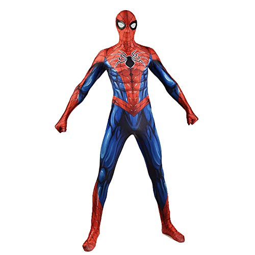 Kahong costume da uomo ragno iron spiderman cosplay costume cosplay halloween masquerade spiderman costumi di supereroe spiderman,red(child)-l