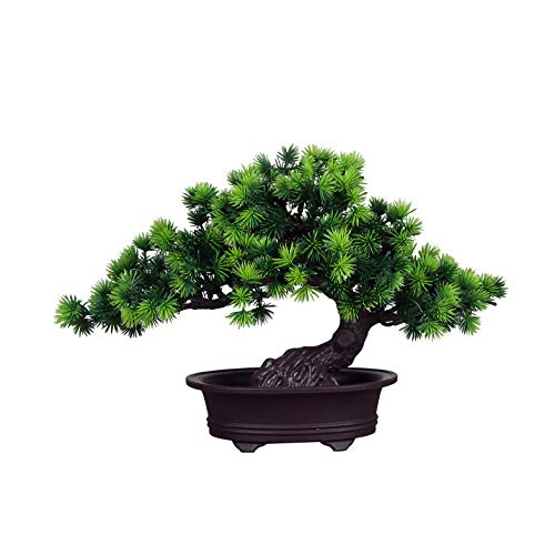 LWBAN-plant Plante Artificielle Bonsaï cèdre Artificiel en Pot, Arbre Artificiel/Bonsai déco, Hauteur 20 cm, 28r