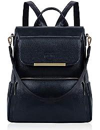 Damen Rucksack,COOFIT Leder Rucksack für Mädchen Schultasche Casual Daypack Schulrucksäcke Tasche Schulranzen