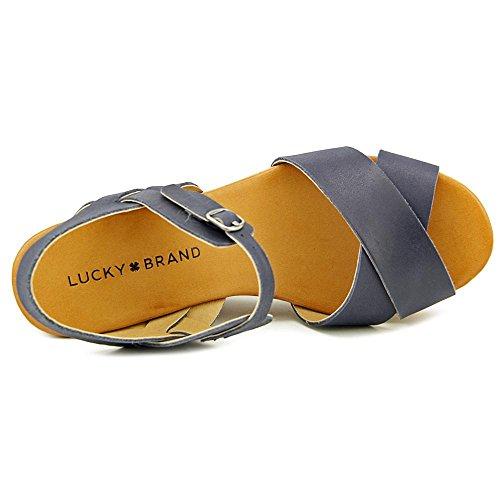 Lucky Brand Modille Femmes Cuir Sandales Compensés Moroccan Blu