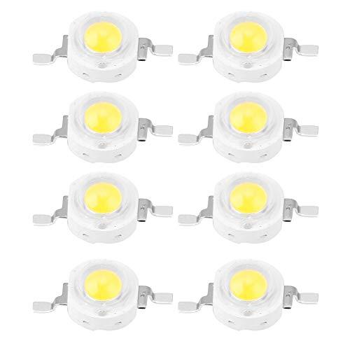 100 Stücke High Power Led Chip 1 Watt Super Helle Intensität SMD Light Emitter Komponenten Diode Lampe Lampe Perlen Chip DIY Leuchten für Flutlicht Scheinwerfer(White 6000k) - Led-chip