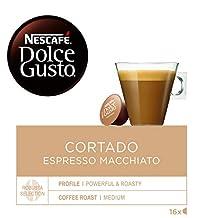 NESCAFÉ Dolce Gusto   Capsulas de Café Cortado Espresso Macchiato   Pack de 3 x 16