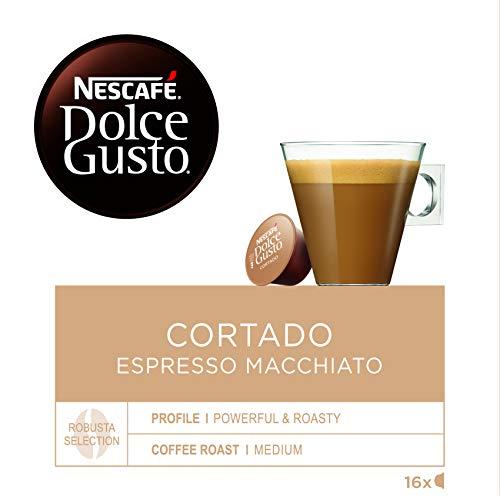 NESCAFÉ Dolce Gusto | Capsulas de Café Cortado Espresso Macchiato | Pack de 3 x 16 Cápsulas -...