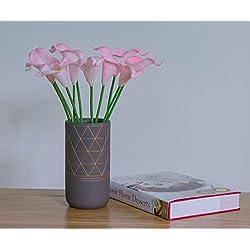 SK-Pro Künstliche Calla 10PC Lillies Blumen Fake Blumen Braut Hochzeit Blumensträuße für Zuhause, Garten-Dekoration rose