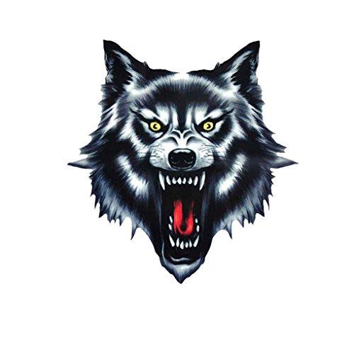Busirde Wolf-Kopf-Motorrad-Motorrad-Auto-Tür-Aufkleber Badge Paster Film Emblem Aufkleber LKW-Helm-Dekor