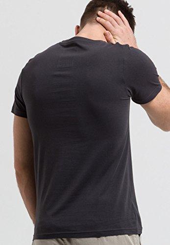 ARMEDANGELS Herren Print T-Shirt aus Bio-Baumwolle - James Big Croco - FAIRTRADE, GOTS, ORGANIC, CERES-008 Anthrazit