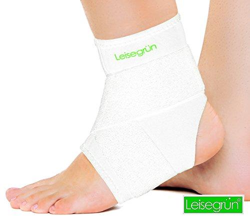 Leisegrün® Sprunggelenkbandage mit Klettverschluss, stützt den Fuß nach einer Verletzung und beim...