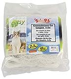 SwissPet Katzenschutznetz, Katzennetz, Balkonnetz für Katzen, Schutznetz (8 x 3m, Weiß)