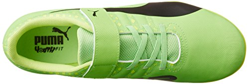 Puma Unisex-Kinder Evopower Vigor 4 Tt V Jr Fußballschuhe Grün (green gecko-puma black-safety yellow 01)