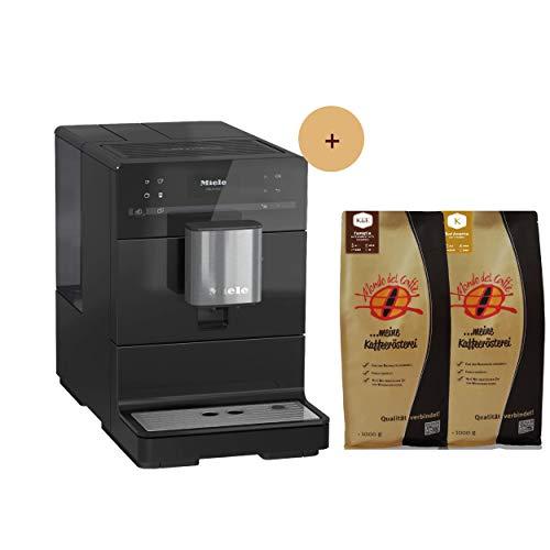 Miele Kaffeevollautomat CM 5300 obsidian schwarz mit 2 * 1 kg Spitzenkaffee Aktionspaket