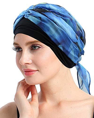 FocusCare Krebs Kopfbedeckung schals für Frauen mit Kopftuch chemotherapie haarausfall Headwrap Gap