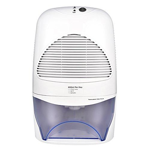 Neue Luftentfeuchter mit 2L Wassertank Großvolumige Luftentfeuchter Air Dryer Luftreinigungsfunktion Feuchtigkeitsentzugfähigkeit (600ml pro Tag) für Zimmer, Schrank, Büro, Keller, Wandschrank usw