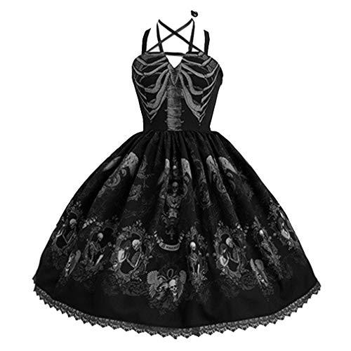 leider - Damen Sling A-Line Umhängeband Kleider Großer Swing Kleider Abendkleid ()