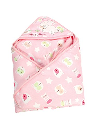 Mee Mee Comfy Baby Wrapper Blanket with Hood (Pink)  available at amazon for Rs.899