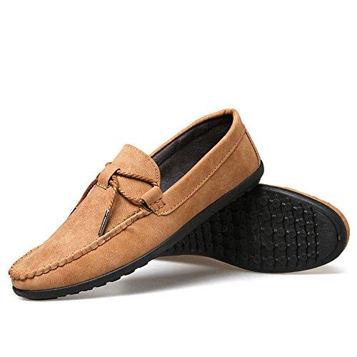 uomini occasionale scarpe di pelle, scarpe alla moda casual, pedale pedale scarpe casual scarpe, scarpe casual cachi