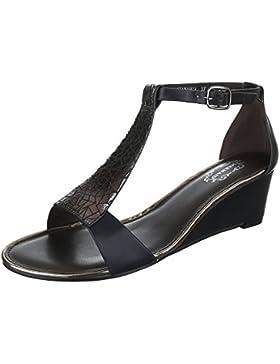 Keilsandaletten Damenschuhe Plateau Keilabsatz/ Wedge Keilabsatz Schnalle Ital-Design Sandalen / Sandaletten