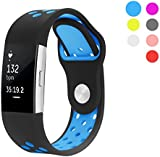 Hanlesi Strap for Fitbit Charge 2 , Silica gel Soft Silicone Adjustable Fashion Replacement Sport Strap Band for Fitbit Charge 2 Smartwatch Heart Rate Fitness Wristband