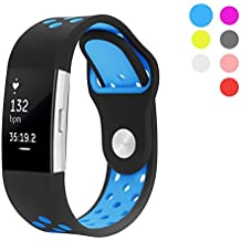 Fitbit Charge 2 Correa, Hanlesi Gel de Sílices Suave Silicona Ajustable Moda Reemplazo Correa Sport Banda para Fitbit Charge 2 SmartWatch Pulsera