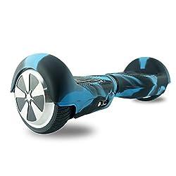 """FollowHeart Self Balance Wheel Hoverboard Scooter Skin Case Wrap Cover für 6,5 """"Schützen Sie Ihren Roller (Blau-Schwarz)"""