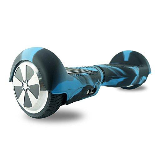 FollowHeart Film d'habillage de gyropode à roues auto-équilibré Roues de 6,5″, bleu/noir