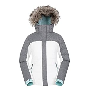Mountain Warehouse Monte Rosa Skijacke für Damen – Gefütterte Winetrjacke, schneedicht, atmungsaktive Snowboardjacke, Abnehmbarer Schneerock – Ideale Skibekleidung