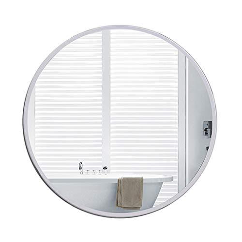 Modern Metall-Gerahmte Wand-Spiegel GroßEr Dekorativer Spiegel Runder Schminkspiegel WeißEr Kreismake-Uprasierspiegel Zum Bad Eitelkeit Schlafzimmer Wohnzimmer Korridor (Große Gerahmte Spiegel Wand)