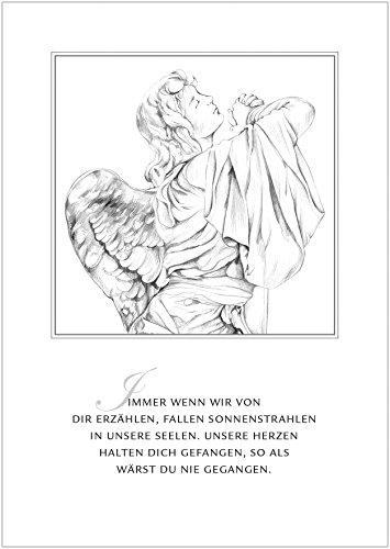 fioniony Trauerkarte Immer wenn wir von dir erzählen, Fallen Sonnenstrahlen in unsere Seelen. Unsere Herzen halten Dich gefangen, so als wärst du nie gegangen. Mit Umschlag (8)
