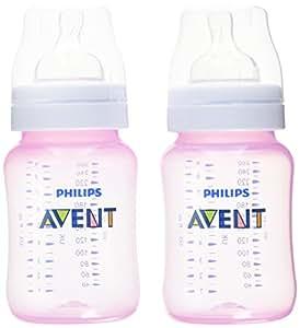 Philips Avent Classic+ 1m+ Pink Feeding Bottle SCF564/27 (260ml/9oz), 2 Feeding Bottles