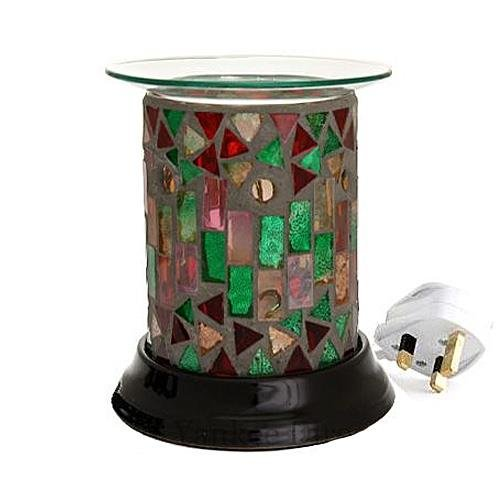 Moroccan Mosaic Straight Electric Melt Burner by Cello / Woodwick - Warmer -Suitable For Yankee Tarts