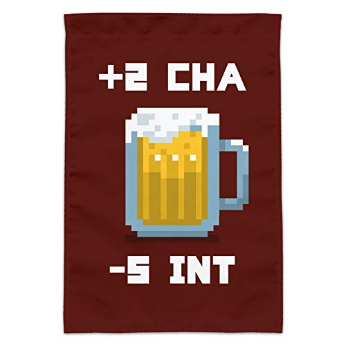 (Graph & More 8-Bit Pixel Retro Beer Charisma Buff Gamer Garten Hof Flagge (Stange Nicht im Lieferumfang enthalten))
