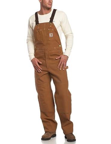 Carhartt Workwear Duck R01 Bib Salopette de travail, R01BRN